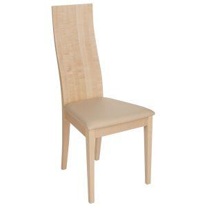 Stuhl Ahorn massiv, geölt und gepolstert 1030-1