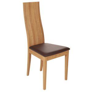 Stuhl Eiche massiv, geölt und gepolstert 1030-1