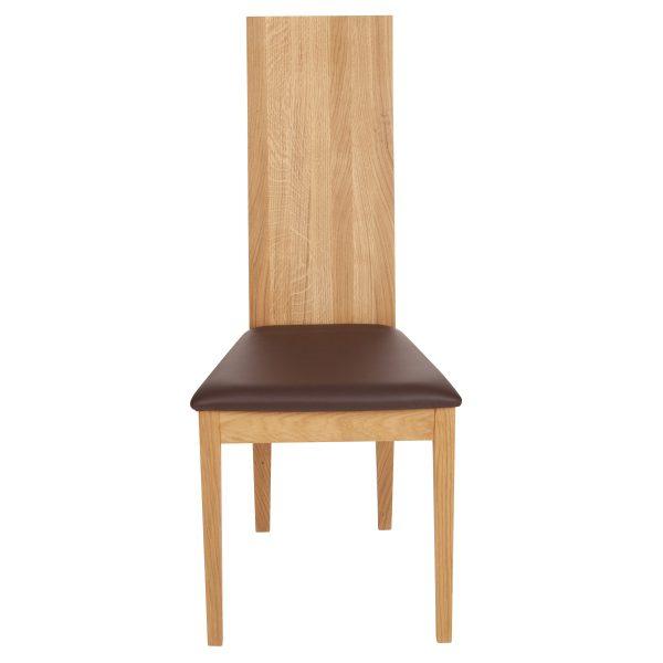 Stuhl Eiche massiv, geölt und gepolstert 1030-2