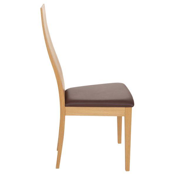 Stuhl Eiche massiv, geölt und gepolstert 1030-3