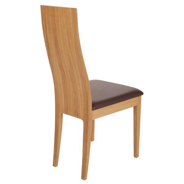 Stuhl Eiche massiv, geölt und gepolstert 1030-4