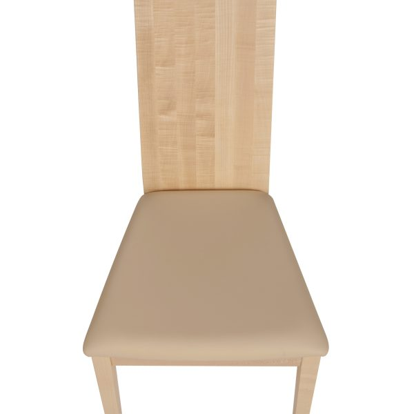 Stuhl Ahorn massiv, geölt und gepolstert 1030-6