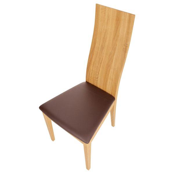 Stuhl Eiche massiv, geölt und gepolstert 1030-6