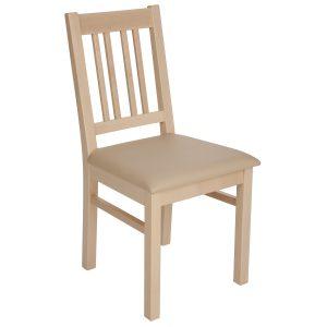 Stuhl Ahorn massiv, geölt und gepolstert 1110-1