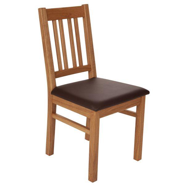 Stuhl Eiche massiv, geölt und gepolstert 1110-1