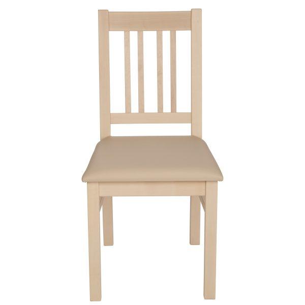 Stuhl Ahorn massiv, geölt und gepolstert 1110-2