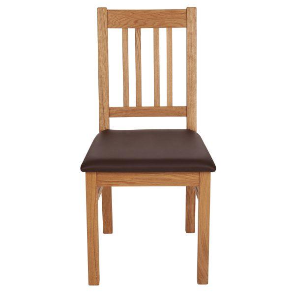 Stuhl Eiche massiv, geölt und gepolstert 1110-2