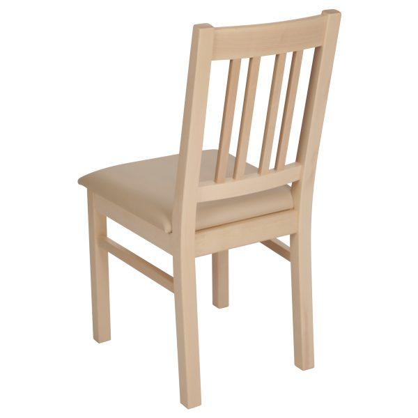 Stuhl Ahorn massiv, geölt und gepolstert 1110-3