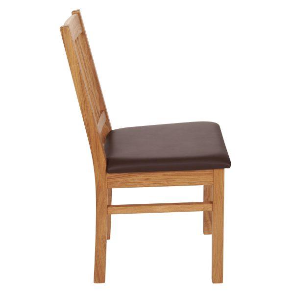 Stuhl Eiche massiv, geölt und gepolstert 1110-3