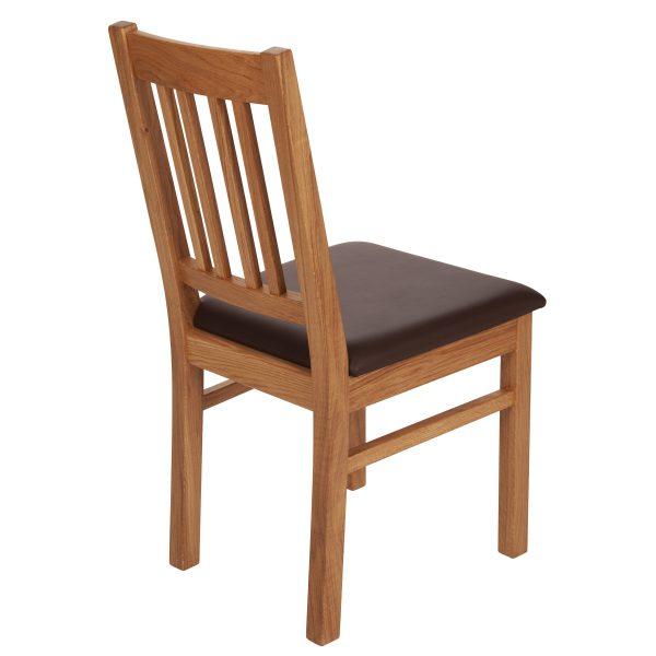 Stuhl Eiche massiv, geölt und gepolstert 1110-4