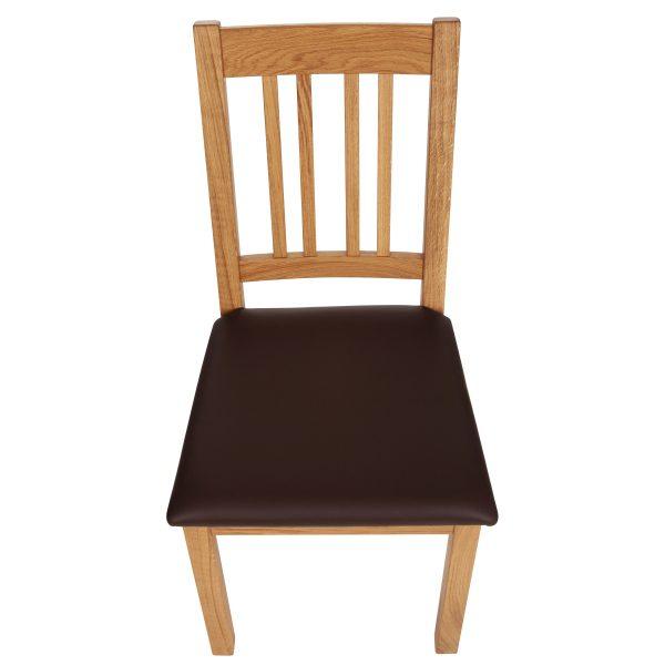 Stuhl Eiche massiv, geölt und gepolstert 1110-6