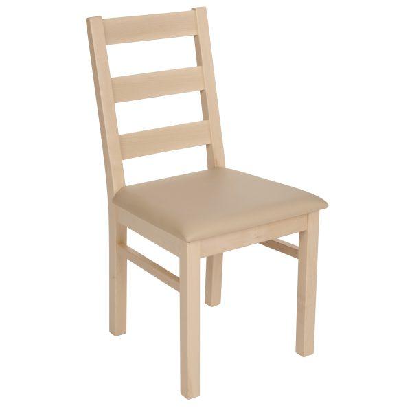 Stuhl Ahorn massiv, geölt und gepolstert 1130-1