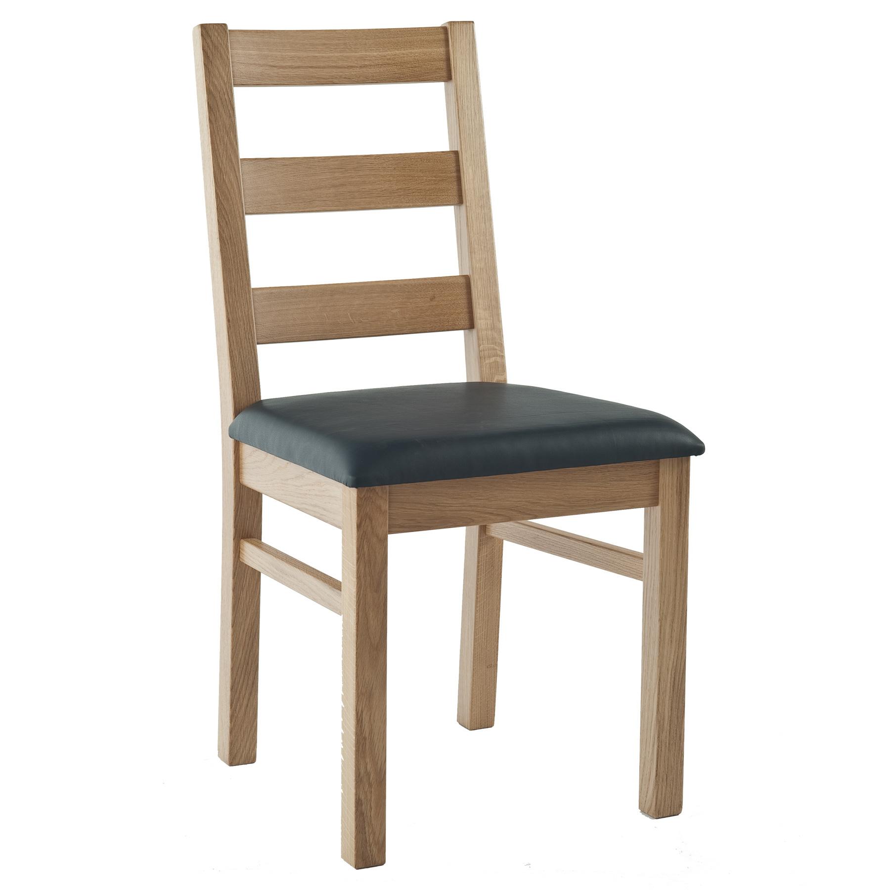 Stuhl Eiche Massiv Geölt Und Gepolstert Holzstuhl 1130