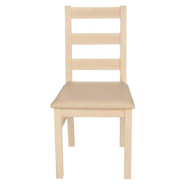 Stuhl Ahorn massiv, geölt und gepolstert 1130-2