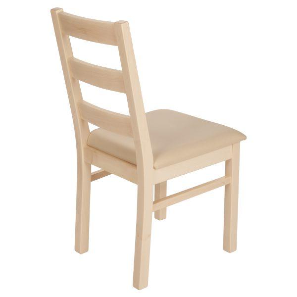 Stuhl Ahorn massiv, geölt und gepolstert 1130-3
