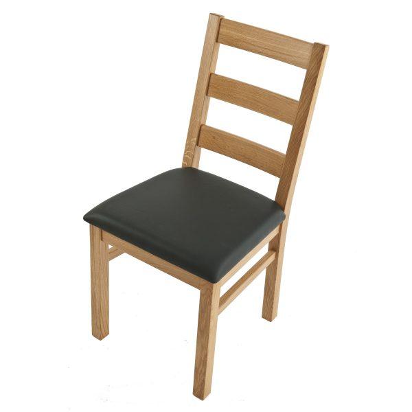 Stuhl Eiche massiv, geölt und gepolstert 1130-3