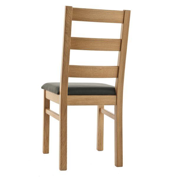 Stuhl Eiche massiv, geölt und gepolstert 1130-4
