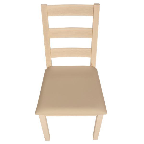 Stuhl Ahorn massiv, geölt und gepolstert 1130-5