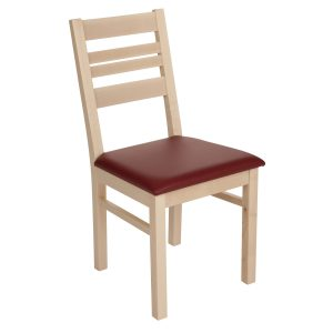 Stuhl Ahorn massiv, geölt und gepolstert 1140-1