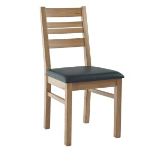 Stuhl Eiche massiv, geölt und gepolstert 1140-1