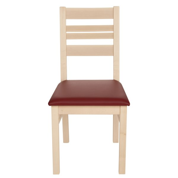 Stuhl Ahorn massiv, geölt und gepolstert 1140-2