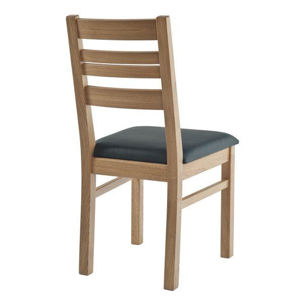 Stuhl Eiche massiv, geölt und gepolstert 1140-2