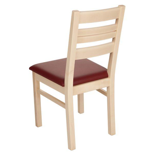 Stuhl Ahorn massiv, geölt und gepolstert 1140-3
