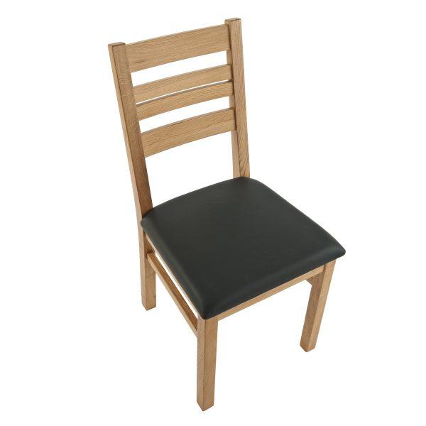 Stuhl Eiche massiv, geölt und gepolstert 1140-3