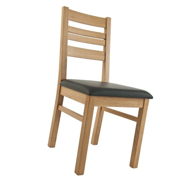 Stuhl Eiche massiv, geölt und gepolstert 1140-4
