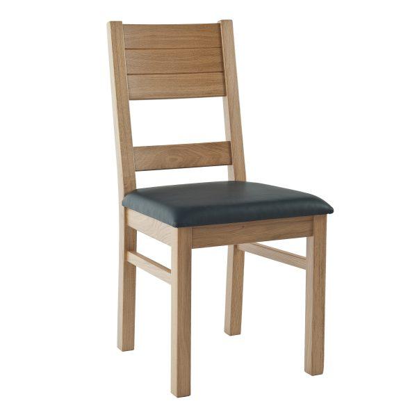 Stuhl Eiche massiv, geölt und gepolstert 1170-1