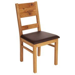 Stuhl Wildeiche massiv, geölt und gepolstert 1170-1