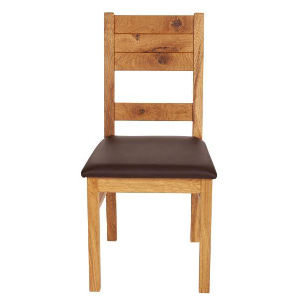Stuhl Wildeiche massiv, geölt und gepolstert 1170-2