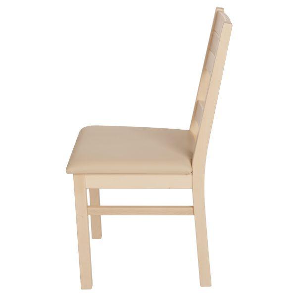 Stuhl Ahron massiv, geölt und gepolstert 1170-3