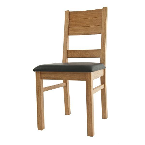 Stuhl Eiche massiv, geölt und gepolstert 1170-3