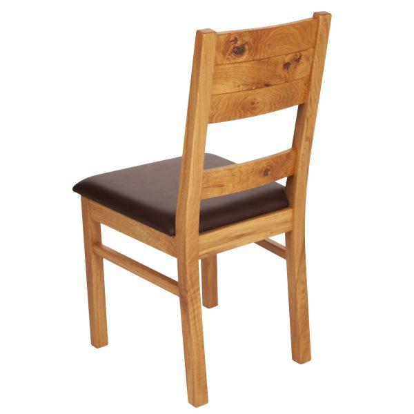 Stuhl Wildeiche massiv, geölt und gepolstert 1170-3