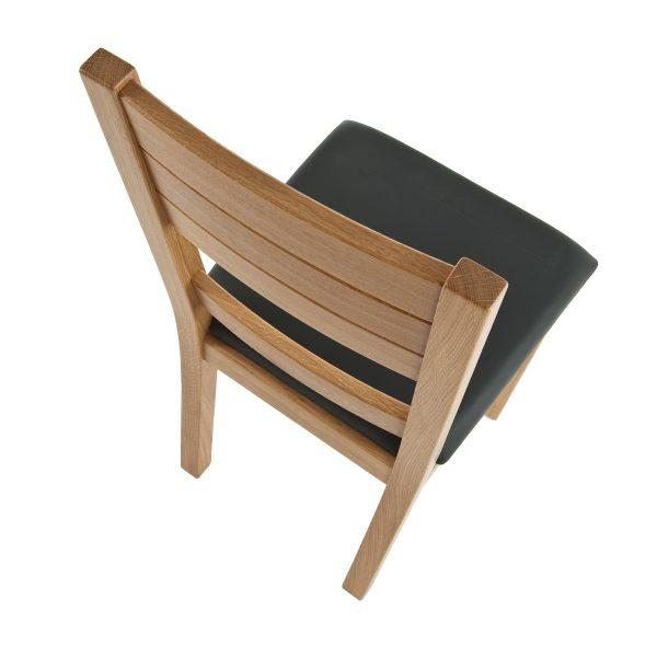 Stuhl Eiche massiv, geölt und gepolstert 1170-4