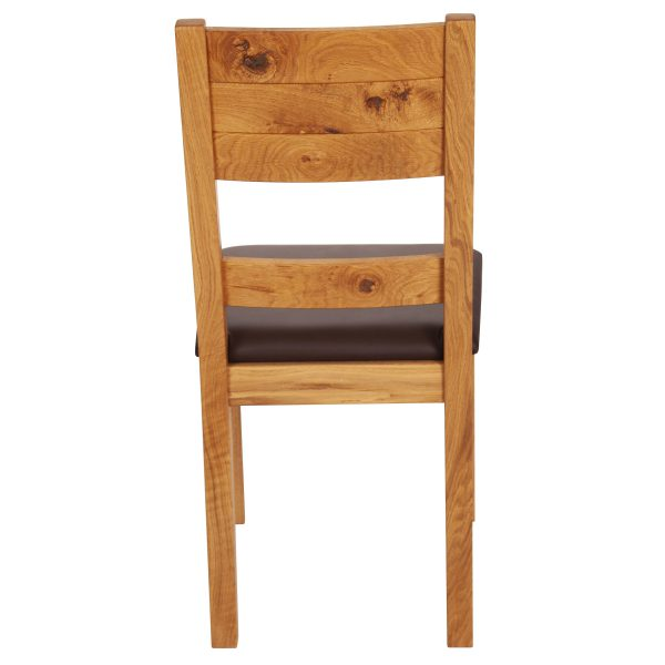 Stuhl Wildeiche massiv, geölt und gepolstert 1170-4