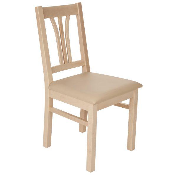 Stuhl Ahorn massiv, geölt und gepolstert 1210-1