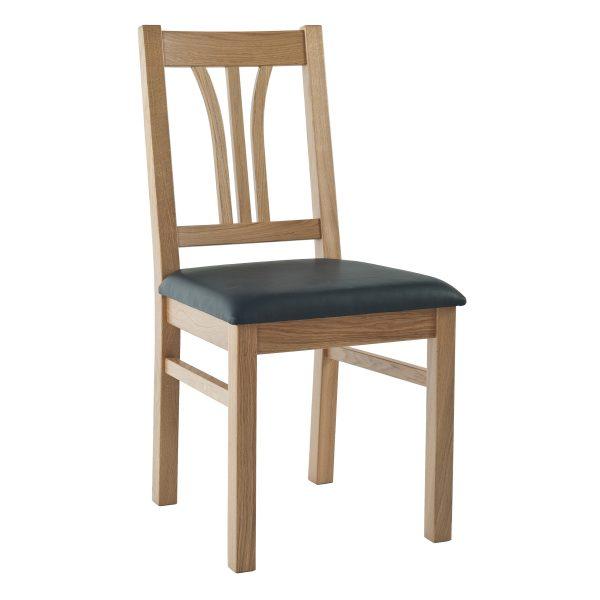 Stuhl Eiche massiv, geölt und gepolstert 1210-1