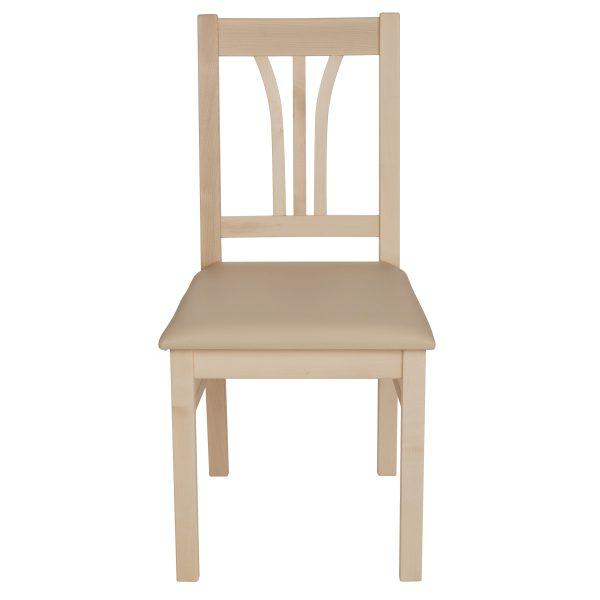 Stuhl Ahorn massiv, geölt und gepolstert 1210-2