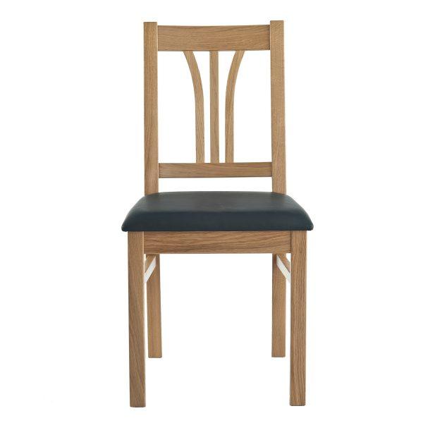 Stuhl Eiche massiv, geölt und gepolstert 1210-2