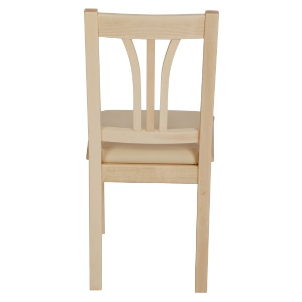 Stuhl Ahorn massiv, geölt und gepolstert 1210-3