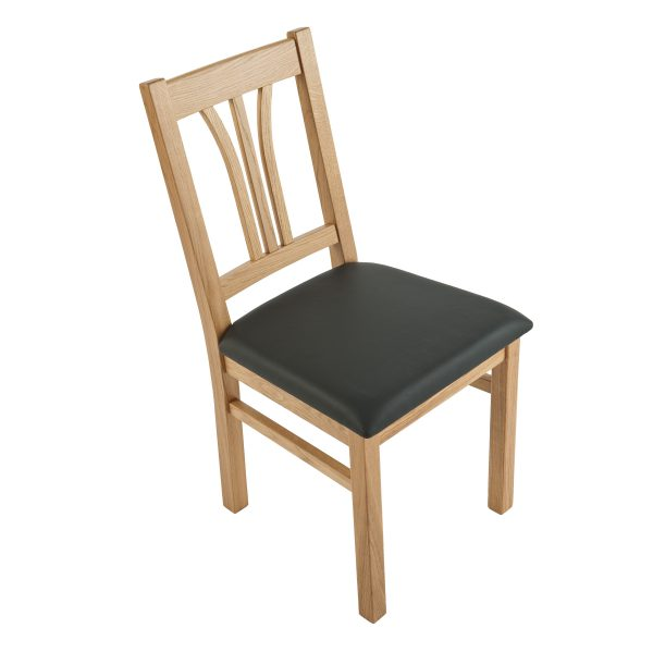 Stuhl Eiche massiv, geölt und gepolstert 1210-3