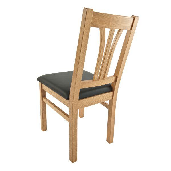 Stuhl Eiche massiv, geölt und gepolstert 1210-4