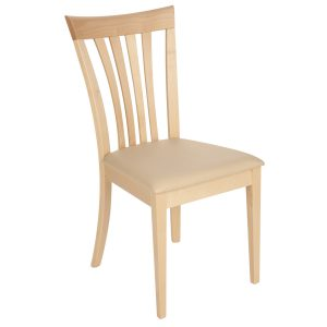 Stuhl Ahorn massiv, geölt und gepolstert 1300-1