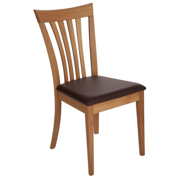 Stuhl Eiche massiv, geölt und gepolstert 1300-1
