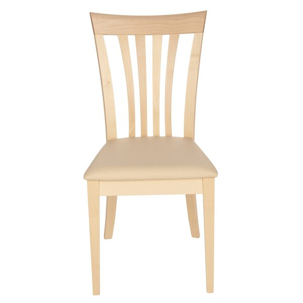 Stuhl Ahorn massiv, geölt und gepolstert 1300-2