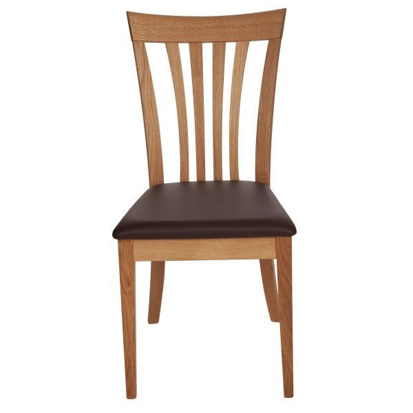 Stuhl Eiche massiv, geölt und gepolstert 1300-2