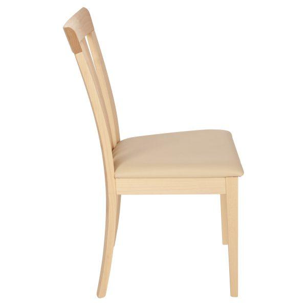 Stuhl Ahorn massiv, geölt und gepolstert 1300-3