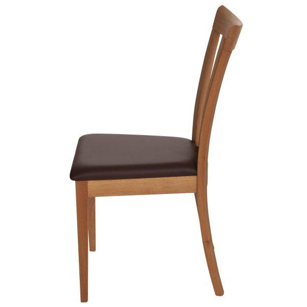 Stuhl Eiche massiv, geölt und gepolstert 1300-3